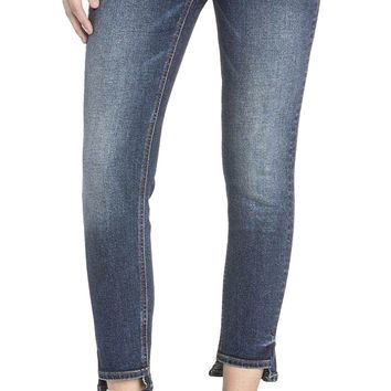 Miss Me Uneven Hem Ankle Skinny Jeans