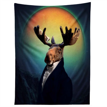 Natt Orange Moon Tapestry