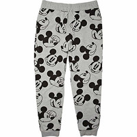 Grey Mickey Mouse print joggers
