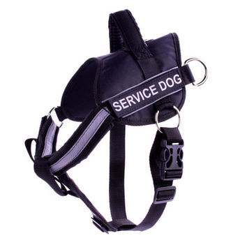 Service Dog Harness 5 Sizes Small to Extra Large Black