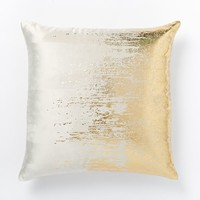 Faded Metallic Texture Pillow Cover - Gold