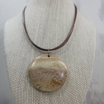 Jasper Necklace, Desert Picture Jasper Pendant, Picture Jasper Necklace, Stone Necklace, Southwestern Necklace