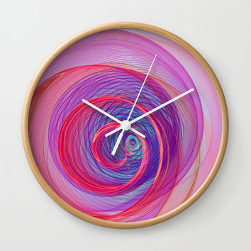 Ring Nebula Wall Clock by Virtualkee
