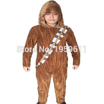 Star Wars: The Force Awakens I Am Chewie Chewbacca Furry Costume Hoodie Pajamas Pyjamas Women Onesuit  Animal Onesuits Sleepwear