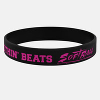 Nothin' Beats Softball Black Pink Wristband