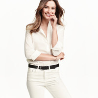 H&M Cotton Band-collar Blouse $14.99