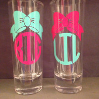 Big/Lil Sorority Shot Glasses