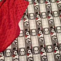 Baby Blanket Star Wars STORM TROOPER CUSToM Personalized Star Wars Baby Nursery Shower Gift SeT Burp PPTP Pacifier Pod Designs by Sugarbear