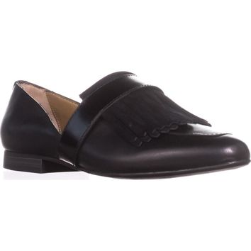 G.H. Bass & Co. Harlow Pointed Toe Loafers, Black, 7.5 US / 38.5 EU