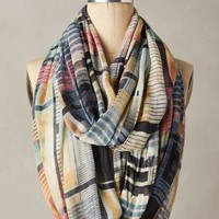 Grid Mix Infinity Scarf by Anthropologie in Multi Size: One Size Scarves