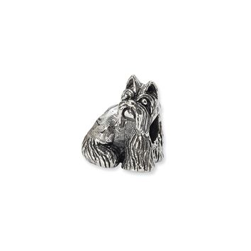 Sterling Silver Miniature Schnauzer Bead Charm