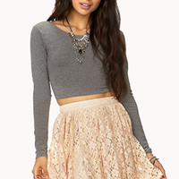 FOREVER 21 Romantic Floral Lace Skirt