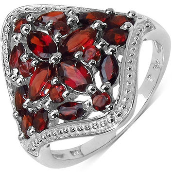 2.24 Carat Genuine Garnet .925 Sterling Silver Ring
