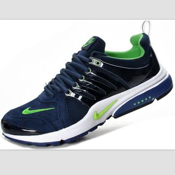 NIKE new lightweight casual shoes sports shoes Dark blue and green