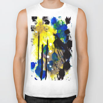Abstract Painting Biker Tank by Yuval Ozery