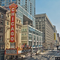 A View of Chicago, Fine Art Photography, Chicago Photo, Chitown Print, Chicago Theatre Sign, Vintage Sign, Joffrey Ballet, City Photo, IL
