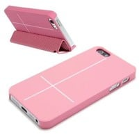 Magnetic Adsorption Mobile Shell Protective Cover Multifunctional Folding Holder Back Case Headphone Bobbin Winder for iPhone 5 Pink: Amazon.ca: Electronics