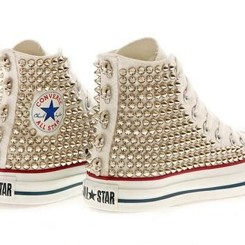 Studded Converse High Top by CUSTOMDUO by customduo on Etsy