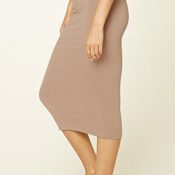 Bodycon Midi Knit Skirt