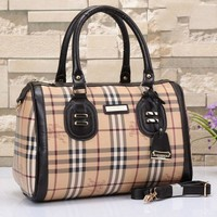 Burberry Women Leather Shoulder Bag Satchel Tote Travel Bag Handbag G-LLBPFSH