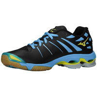 Mizuno Wave Lightning Z Women's Volleyball Shoes - Black Alaskan Blue