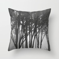 Foggy Days  Throw Pillow by KCavender Designs