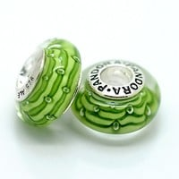 High Quality 925 Silver Screw Core Murano Glass Bead Fit Pandora ZS060