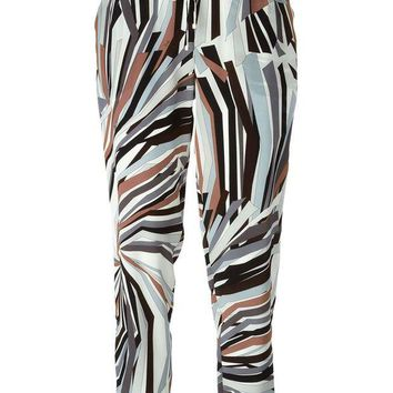 ONETOW Emilio Pucci geometric print trousers