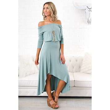 Made To Dance Hi-Low Maxi (Sea Green)