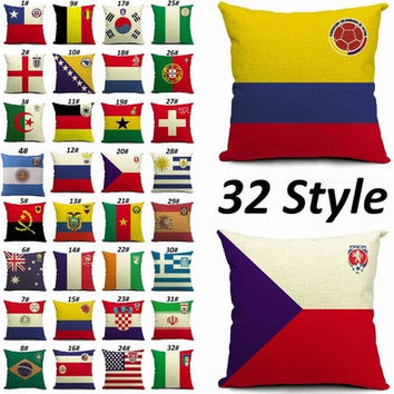 40 Style Fashion Country Football Club Cotton & Linen Throw Pillow Case Vintage Cushions Cover Pillowcases For Office Bedding Home Sofa Car Seat Bed Room Decors [8097996551]