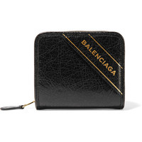 Balenciaga - Embossed textured-leather wallet
