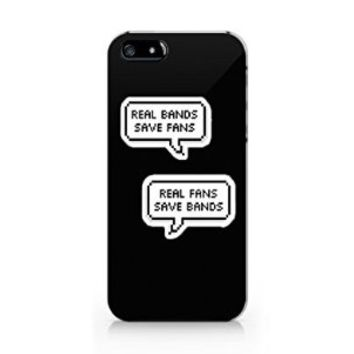 Real Bands Save Fans Iphone 5C Case, Iphone 5C Case Plastic Hard White Case Unique Design-Quindyshop (iphone 5C case)