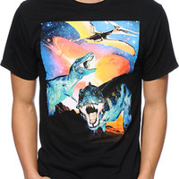 A-Lab Dinos From Mars Black Tee Shirt