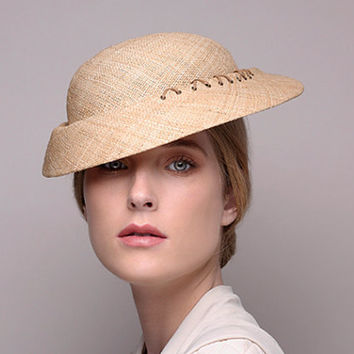 Cocktail straw hat for women / wedding hat / stylish straw hat / free shipping