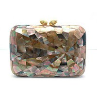 "KOTUR ""Morley"" Starburst Shell Clutch at Shirise"