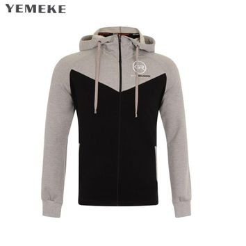 Men spring hoodies gyms Fitness bodybuilding Sweatshirt Cross fit pullover sportswear male workout Hooded Jacket clothing