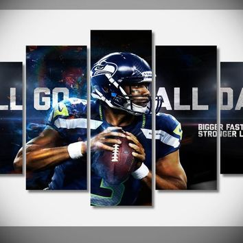 P1627 HUGE SIZE Poster Russell Wilson Seahawks Super Bowl XLVIII  Poster Framed Gallery wrap art print home wall decor wall art
