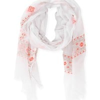 Geo Embroidered Scarf