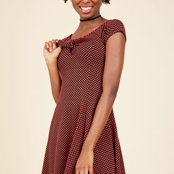 Flirty Proclivity Mini Dress in Red | Mod Retro Vintage Dresses | ModCloth.com