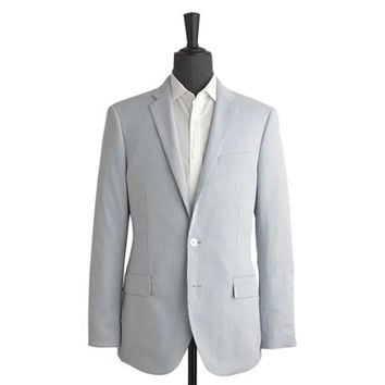 J.Crew Mens Ludlow Suit Jacket In Striped Cotton