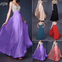 Evening Formal Prom Gown Party Cocktail Bridesmaid Ball Long Maxi Dresses Stock