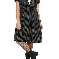 The Nightmare Before Christmas Jack Skellington Pinstripe Dress Plus Size