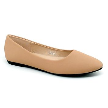 Women's Tan Pointed Flats