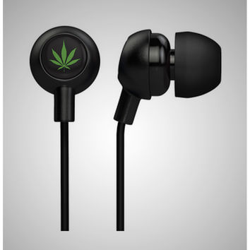 Green Weed Earbuds