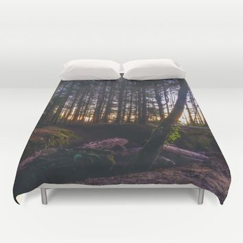 Wooded Tofino Duvet Cover by Mixed Imagery