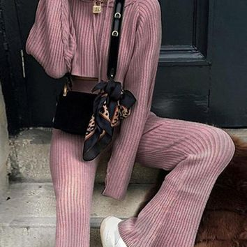 New Purple 2-in-1 Drawstring Hooded High Waisted Casual Long Jumpsuit