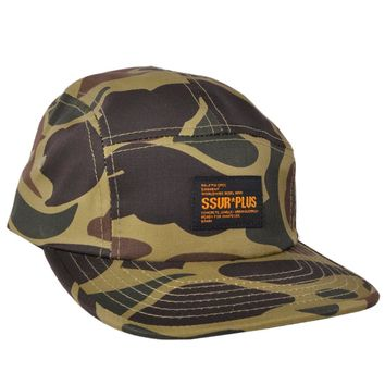 SSUR PLUS Buckle 5 Panel Hat New York Camo Platoon Urban Headwear Fashion Cap