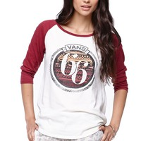 Vans Roped In Raglan T-Shirt - Womens Tee - White