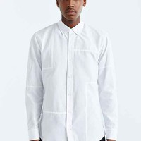 Publish Neil Pieced Oxford Button-Down Shirt- White
