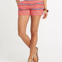 Vineyard Beach Print Dayboat Shorts